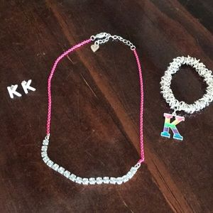 Girls K Justice bundle of jewelry
